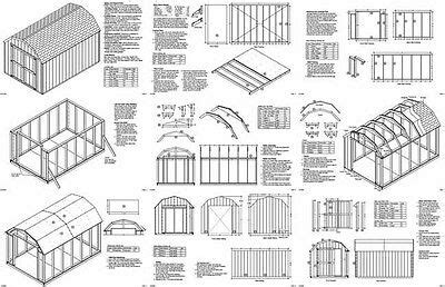 barn gambrel style storage shed plans material