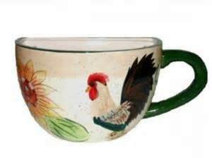 Wine And Grapes Kitchen Decor Large Coffee Cup Planter With Rooster And Sunflower Wall Decor