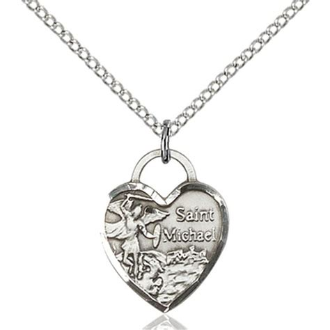 sterling silver st michael pendant the catholic