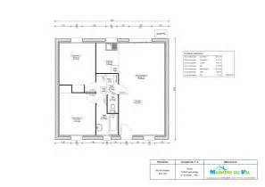 plan plain pied 2 chambres 60m2