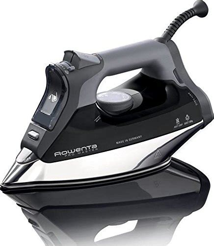 rowenta dw8156 1800 watt promaster steam iron with platinium soleplate black appliancesy