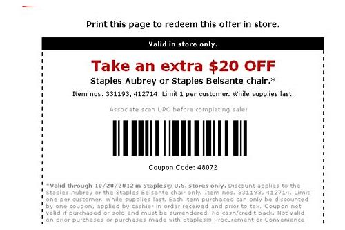 staples in store coupon feb 2018