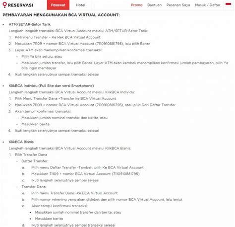 email notifikasi bca pembayaran tiket pesawat di reservasi kini makin mudah