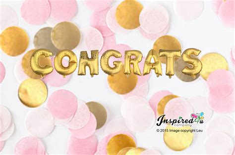 Wedding Congratulations Balloons by Congrats Letters 16 Inch 40 Cm Foil Balloons Prom Wedding
