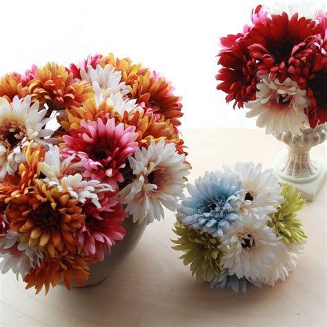 Free Shipping 7 Flower Heads Artificial Flowers 7 Flower Heads Free Shipping Rustic Type