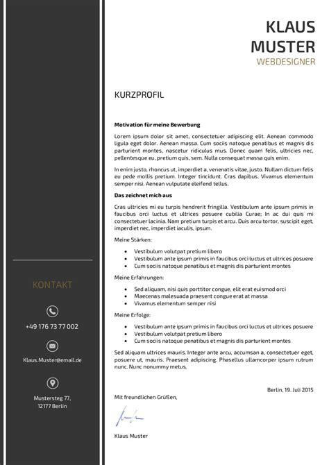 Motivationsschreiben Design Vorlage Premium Bewerbungsmuster 3 Lebenslaufdesigns De