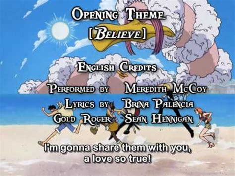 believe one one op 02 believe funimation dub sung by