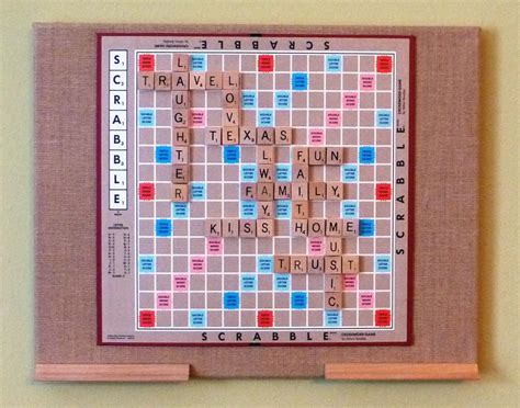 handmade scrabble board personalized scrabble board on 16 x 20 burlap