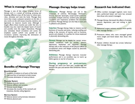 free downloadable massage therapy brochures design by