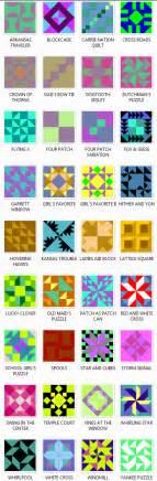 Quilt Pattern Names List by Four Patch Quilt Block Patterns