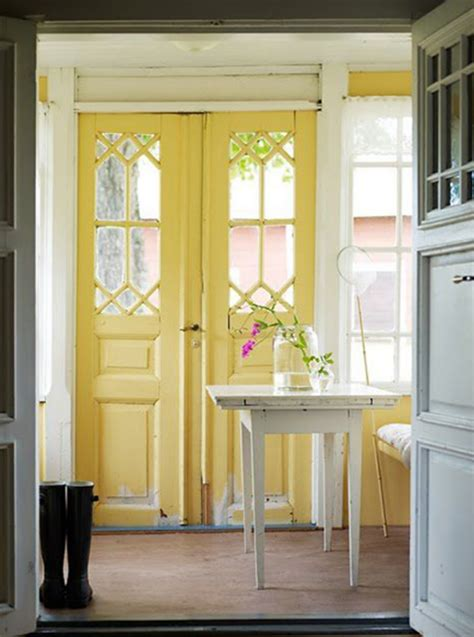 25 Eclectic Front Doors With Pastel Colors Home Design Yellow Front Doors