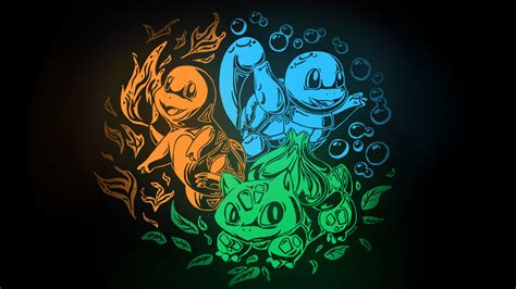 kanto starters wallpaper by togechu on deviantart
