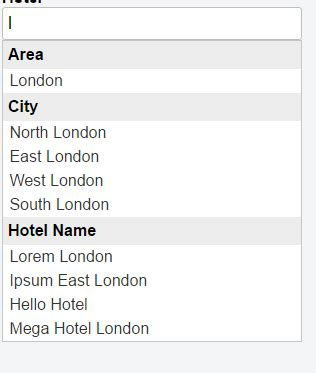 how to filtering categories from autocomplete jquery