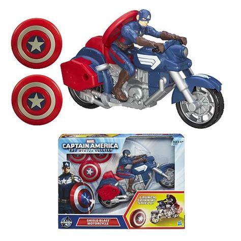 Hasbro Captain America With Blast Cycle Kapten Amerika 1 captain america winter soldier shield blast motorcycle