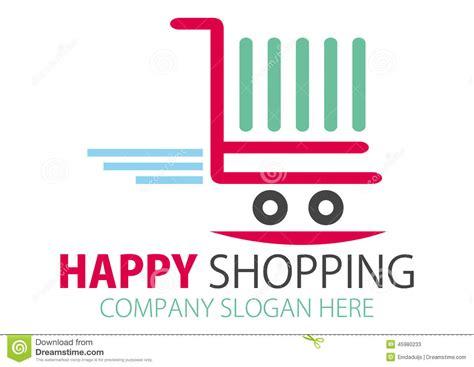 design online shop shopping station logo design stock vector image 45980233
