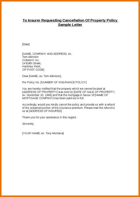 Insurance Letter Of Credit cancellation of credit card insurance letter 28 images