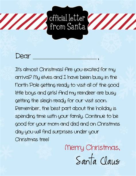 free printable letter from santa claus uk free letter from santa and holiday card giveaway enter