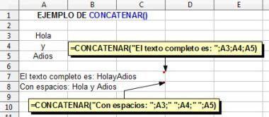 operadores de cadenas en php funciones de texto en openoffice calc