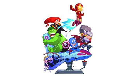 avengers wallpaper pinterest marvel comics the avengers chibi free desktop wallpaper