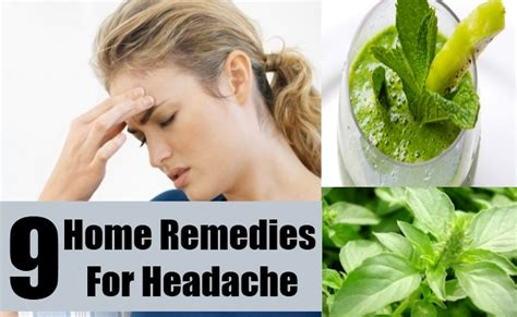 9 headache home remedies treatments and cures