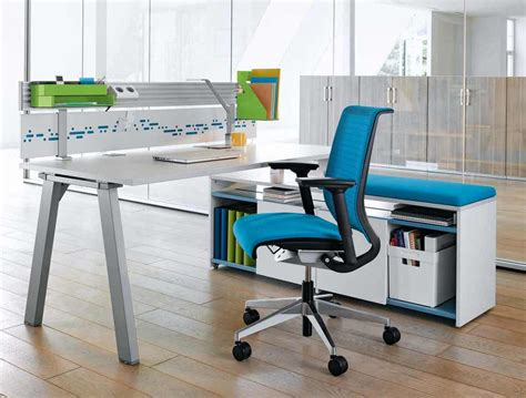 ergonomic home office desks best blue ergonomic office chairs with white desk in wood