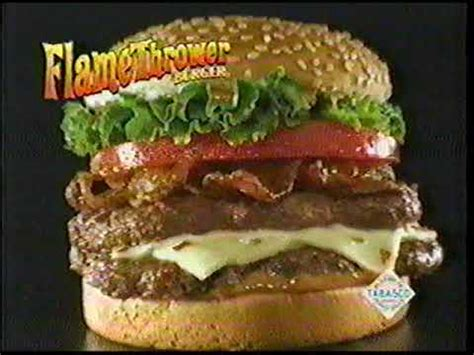 dq commercial actress flamethrower the flamethrower burger at dairy queen 2004 youtube