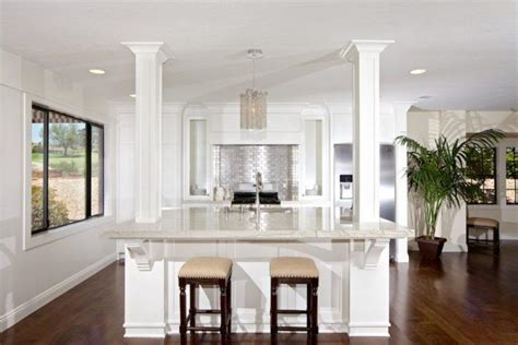 kitchen islands with columns 15 beautiful kitchen island designs with columns housely