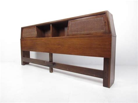mid century modern king bed mid century modern king size bed headboard for sale at 1stdibs