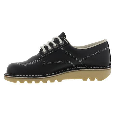 Kickers Navy kickers womens kick lo leather navy blue shoes size 4 8 ebay