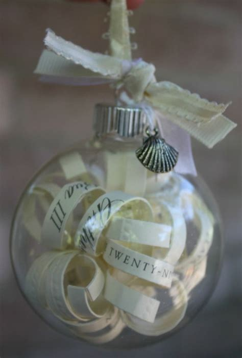 after the wedding make an ornament out of the invitation or program