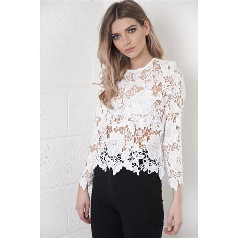 White Tops And Blouses Uk by White Lace Blouse Uk Black Dressy Blouses