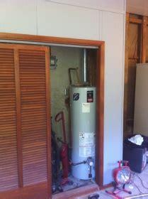 water heater in bedroom closet water heater in closet appliances diy chatroom home