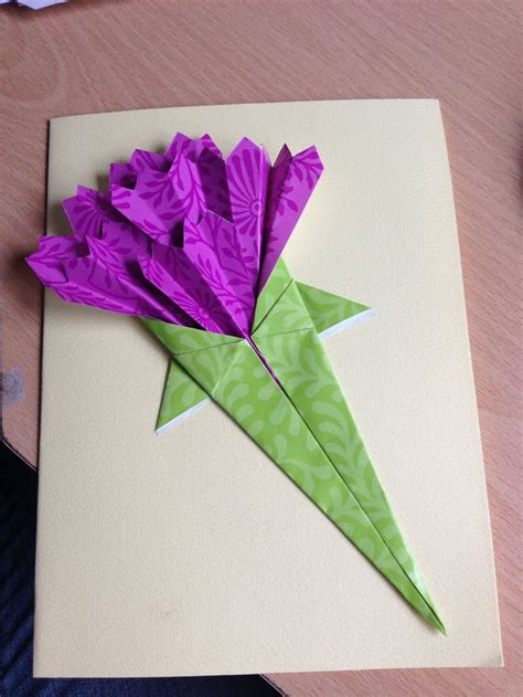 Origami Flowers For Cards - pin by tam la on mothers day
