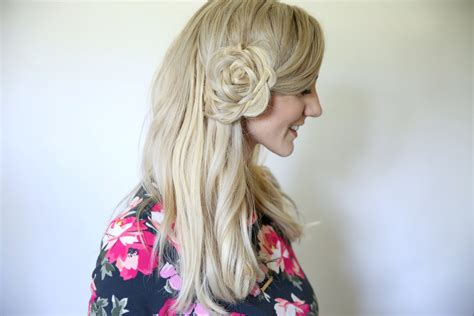 andreaschoice back to school hairstyles flower braid bun back to school hairstyles cute girls