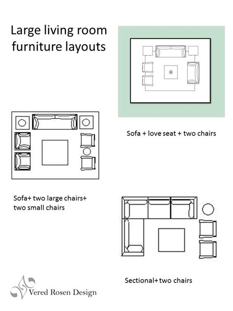 Large Living Room Furniture Layout | vered rosen design living room seating arrangements