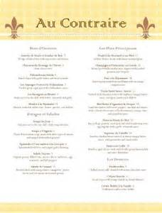 french bistro menu template diy menu templates
