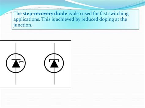 symbol of step recovery diode ppt step recovery diode powerpoint presentation id 2414931