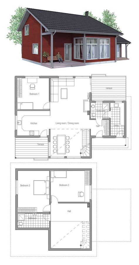 Clerestory House Plans by Home Plan I Would Change To Shed Roof Mcm It Up