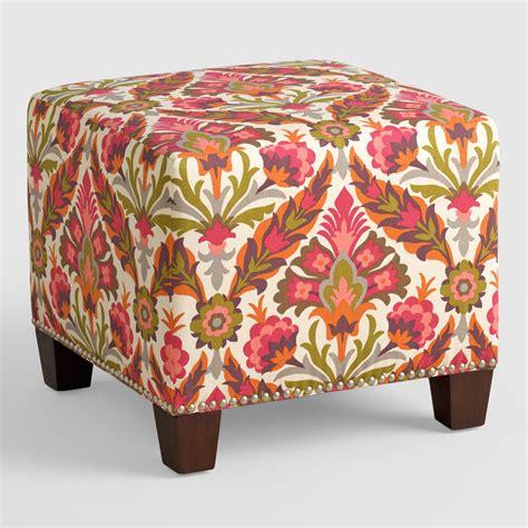pouf ottoman world market felicity mckenzie upholstered ottoman world market