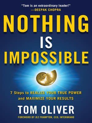nothing is impossible by tom oliver · overdrive: ebooks