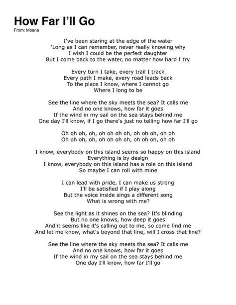 Kitchen Ideas Cherry Cabinets by Moana Song Lyrics How Far I Ll Go Lyrics Image Mag