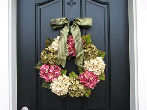 spring door wreath spring wreaths hydrangea wreath spring by twoinspireyou on
