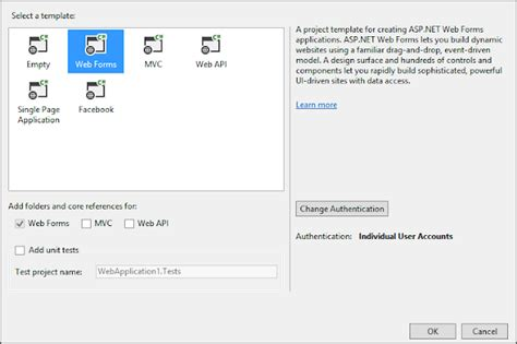 web api tutorial visual studio 2013 getting started with one asp net project visual studio
