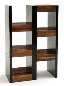 rustic modern reclaimed wood shelving unit rustic