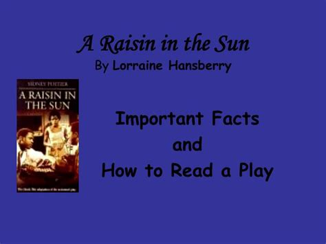 theme of revolution in a raisin in the sun ppt a raisin in the sun by lorraine hansberry powerpoint