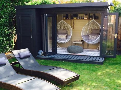 contemporary summerhouse  side shed corner