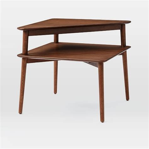 Mid Century Side Table Mid Century Stepped Side Table West Elm