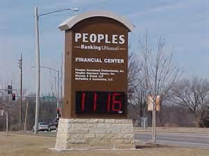 Landmark National Bank Dodge City Ks Schurle Signs Inc Monument Signs