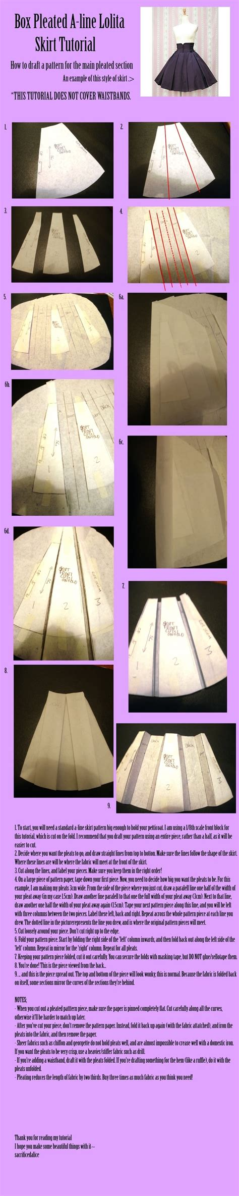 box pleated a line skirt tutorial pictures photos