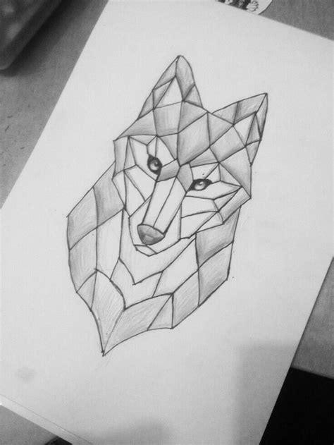 lobo en figuras geometricas dibujos ermosos
